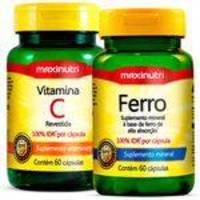 Vitamina C + Ferro Quelato 2x60 Cápsulas Maxinutri