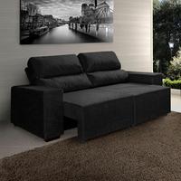 Sof american comfort montana suede assento retr til e for Sofa 5 lugares assento retratil e encosto reclinavel