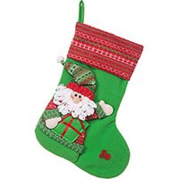 Bota Papai Noel Christmas Traditions Barra Tricot 40cm