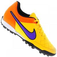 Chuteira Society Nike Tiempo Rio II TF Masculina Laranja Claro e Laranja 772199faf2667