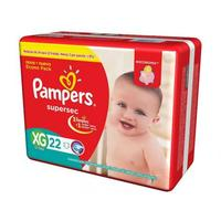 Fralda Pampers Supersec XG 22 Unidades