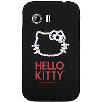 Capa para Celular Case Mix Galaxy Y Hello Kitty Cristais Policarbonato Preta