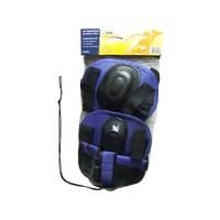 Kit de Proteção Infantil Para Roller ou Skate Bel Sports 411102 Tamanho P Preto e Azul