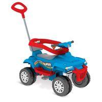 Mini Veículo De Passeio Superquad Com Pedal Azul Bandeirante