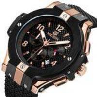 Relógio Megir 2050 Com Cronógrafo Original Luxo
