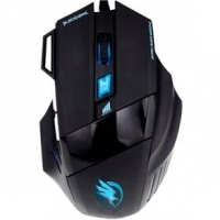 Mouse Fortrek Gamer Hawk Optico USB 2400 DPI OM703 Black