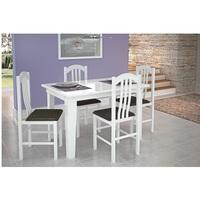 Mesa Canção 4 Cadeiras Branco