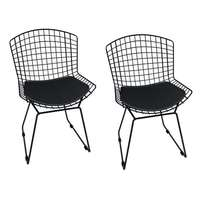Kit de Cadeiras Mobizza Bertoia Preto 2 Peças