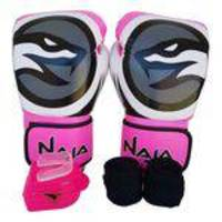 2086ed94d Kit De Boxe   Muay Thai Luva 12oz Bandagem Bucal Feminino - Pink - Colors -