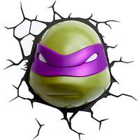 Luminária 3D Light FX de Parede Tartarugas Ninjas Donatelo Verde