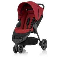 Carrinho de Bebê Triciclo Britax B-Agile 3 Chili Pepper Vermelho e Preto