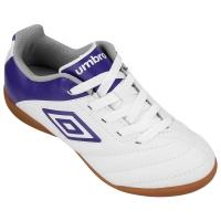 Chuteira Umbro Prime 2013 Futsal Infantil Branco e Roxo  0f756a751b70d