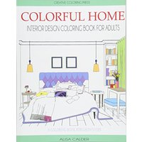 Colorful Home: Interior Design Coloring Book for Adults
