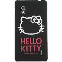 Capa para Celular Case Mix Optimus G Hello Kitty Cristais Policarbonato Preta