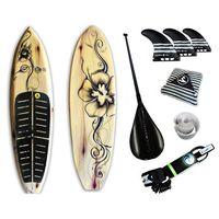 Prancha Soul Fins Stand Up Paddle Floral Black 100 + Acessórios