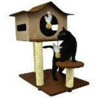 Arranhador Para Gatos Casa De Cuco São Pet - Marrom