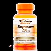 Suplemento Mineral Sundown Naturals Magnesium 250mg 100 Comprimidos