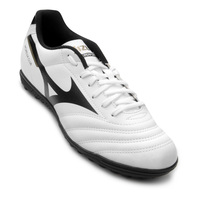 Chuteira Society Mizuno Morelia Neo Club As Preto e Branco