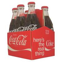 Set 6 Mini Garrafas Urban Coca-cola Filled Six Pack