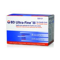 Agulha Insulina BD Ultra-Fine 8mm 100 Unidades