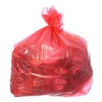 Saco para Lixo com Capacidade de 50 Litros Vermelho com 100 Unidades Itaquiti