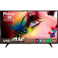 Smart TV LED 55 Philco Ph55e61dsgwa Ultra HD 4k Conversor Digital HDM USB Wi-Fi Preta