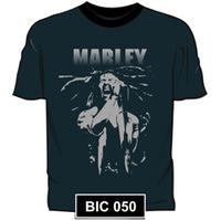 Camiseta Stamp Rockwear Bob Marley Preta Tam P
