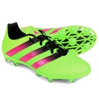 Chuteira Adidas Ace 16.2 FG Campo Masculino Verde Limão e Pínk  5b451b43a0451