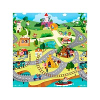 Tapete Infantil Safety 1st Play Mat Story World 1 Peça Dupla Face 185x125cm
