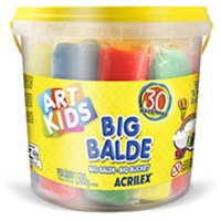 Massinha Acrilex ArtKids Big Balde 30 Massinhas Sortidas 40023