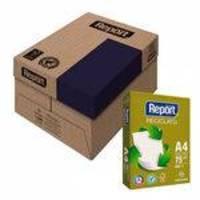 Papel Sulfite Report A4 Reciclado 75g Caixa Com 5 Pacotes De 500 Folhas