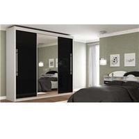 Guarda-Roupa Gelius Móveis 3 portas e Espelho Branco