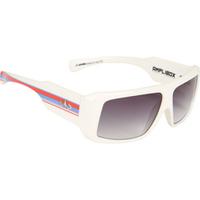 ffe99a01ca251 Óculos Evoke Amplibox Branco Com Vermelho Azul Linhas cinza prata ...