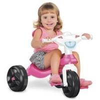 Triciclo Kid Cross Bandeirante Rosa e Branco