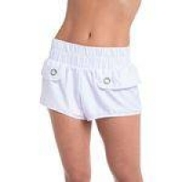 Shorts Tactel Candy Red Nose Branco