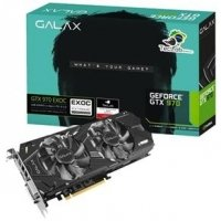Placa de Vídeo Galax Nvidia Geforce Gtx 970 Exoc Black Teclab Edition 4GB Gddr5 97Nqh6dnb4ro