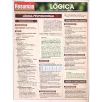 RESUMÃO EXATAS 23 - LÓGICA - LÓGICA PROPOSICIONAL, TEORIA DA QUANTIFICAÇÃO E LÓGICA SILOGÍSTICA