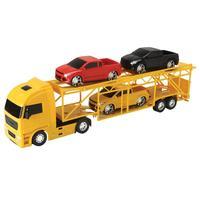 Caminhão Diamond Roma Truck Cegonheira com 3 Pick-Ups Amarelo