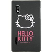 Capa para Celular Case Mix Optimus L5 Hello Kitty Cristais Policarbonato Preta