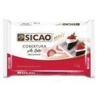Barra Chocolate Cobertura Mais Ao leite 2,1kg - Sicao