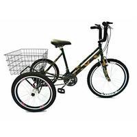 Bicicleta Triciclo Valdo Bike Aro 24 21 marchas Camuflado