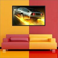 Quadro Decorativo De Volta Para O Futuro Delorean