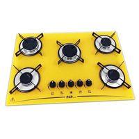 Cooktop D&D Metal CE05AM Mega Chama 5 Bocas Amarelo