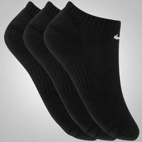 Meia Nike Cushion No Show Kit com 3 Pares Feminino Infantil Preto