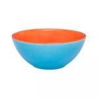 Bowl Pequeno 600ml Azul E Laranja Ab37-0777