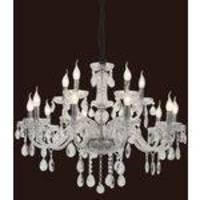Lustre Imperia Cristal Transp 15L E14 Bivolt Mantra 30441