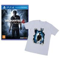 Jogo Uncharted 4 A Thiefs End Playstation 4 Sony + Camiseta Exclusiva Uncharted 4