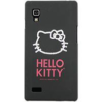 Capa para Celular Case Mix  Optimus L9 Hello Kitty Cristais Policarbonato Preta