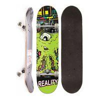 Skate Completo Semi Profissional Reality Monster Green Street Verde