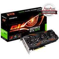 Placa de Vídeo Gigabyte GeForce GTX 1070 G1 Gaming 8GB GDDR5 PCI-Express 3.0